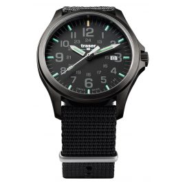 traser H3 107422 Mens Watch P67 Officer Pro Gun Metal Black Nato Strap