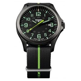 traser H3 107426 Mens Watch P67 Officer Pro Gun Metal Black/Green