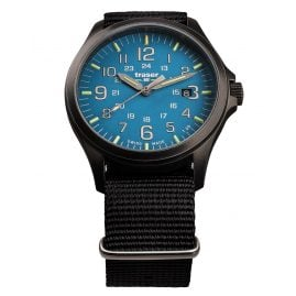 traser H3 108647 Men´s Watch P67 Officer Pro Gunmetal/Sky-Blue
