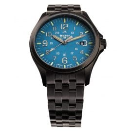 traser H3 108740 Men´s Wristwatch P67 Officer Pro Gunmetal/Sky-Blue
