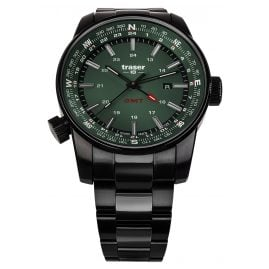 traser H3 109525 Men's Wristwatch P68 Pathfinder GMT Green