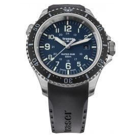 traser H3 109374 Men's Dive Watch P67 SuperSub Blue with Rubber Strap