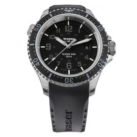traser H3 109377 Diving Watch P67 SuperSub Black with Rubber Strap