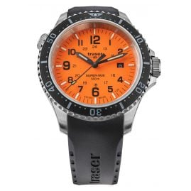 traser H3 109380 Herren-Taucheruhr P67 SuperSub Orange mit Kautschukband