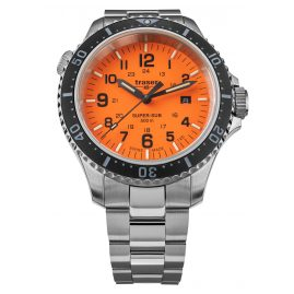 traser H3 109381 Herren-Taucheruhr P67 SuperSub Orange mit Stahlband