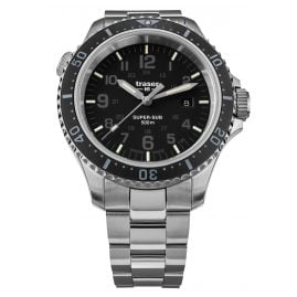 traser H3 109378 Men's Diver's Watch P67 SuperSub Black with Steel Bracelet