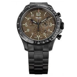 traser H3 109460 Men's Watch P67 Officer Pro Chrono Khaki with Steel Strap