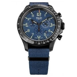 traser H3 109461 Men's Wristwatch P67 Officer Pro Chrono Blue with Nato Strap