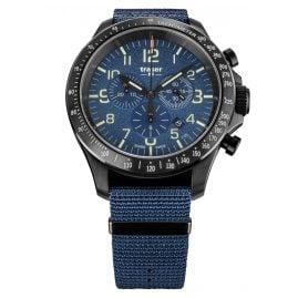 traser H3 109461 Herren-Armbanduhr P67 Officer Pro Chrono Blau mit Natoband