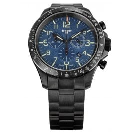traser H3 109462 Men's Watch P67 Officer Pro Chrono Blue with Steel Strap