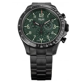 traser H3 109464 Men's Watch P67 Officer Pro Chrono Green with Steel Strap