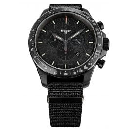 traser H3 109465 Men's Chronograph P67 Officer Pro Chrono Black with Nato Strap