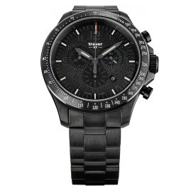 traser H3 109466 Men's Watch P67 Officer Pro Chrono Black with Steel Strap