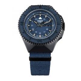 traser H3 109856 Herrenarmbanduhr P69 Black Stealth Blau mit Natoband