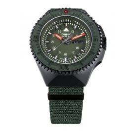 traser H3 109858 Men's Watch P69 Black Stealth Green with Nato Strap