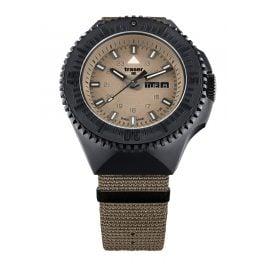 traser H3 109860 Men's Watch P69 Black Stealth Sand with Nato Strap