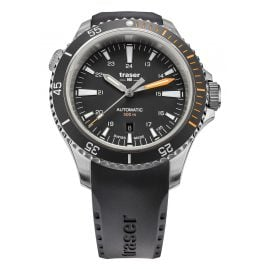 traser H3 110322 Men's Watch P67 Diver Automatic Black with Rubber Strap