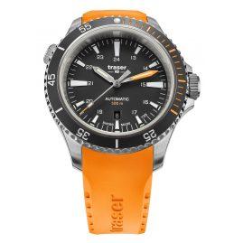 traser H3 110323 Herrenuhr P67 Diver Automatik Orange/Schwarz mit Kautschukband
