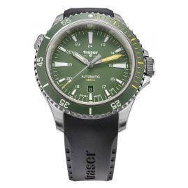 traser H3 110326 Men's Watch P67 Diver Automatic Green with Rubber Strap