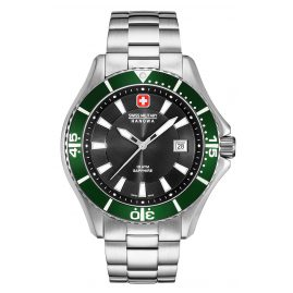 Swiss Military Hanowa 06-5296.04.007.06 Men's Watch with Stainless Steel Bracelet Green