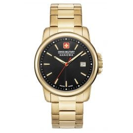 Swiss Military Hanowa 06-5230.7.02.007 Men's Watch Swiss Recruit II Gold Tone/Black