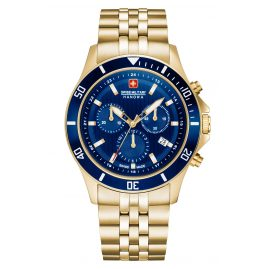Swiss Military Hanowa 06-5331.02.003 Men's Watch Flagship Chrono II Gold Tone/Blue