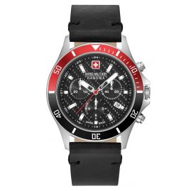 Swiss Military Hanowa 06-4337.04.007.36 Men's Watch Flagship Racer Chrono black / red
