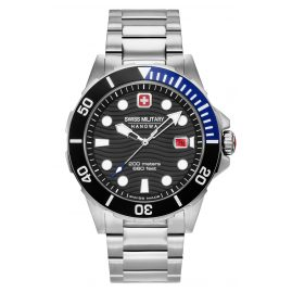 Swiss Military Hanowa 06-5338.04.007.03 Men's Watch Offshore Diver Stainless Steel Black