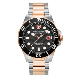 Swiss Military Hanowa 06-5338.12.007 Diver's Watch for Men Offshore Diver Two-Colour Black