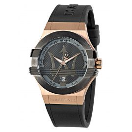 Maserati R8851108002 Men's Watch Potenza black/rose gold