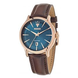 Maserati R8851118001 Wristwatch for Men Epoca Brown/Blue