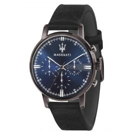 Maserati R8871630002 Men's Watch Chronograph Eleganza black/blue