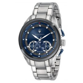 Maserati R8873612014 Men's Watch Chronograph Traguardo silver/blue
