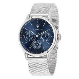 Maserati R8853118013 Men's Watch Multifunction Epoca silver/blue