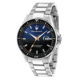 Maserati R8853140001 Men's Wristwatch Sfida silver/blue