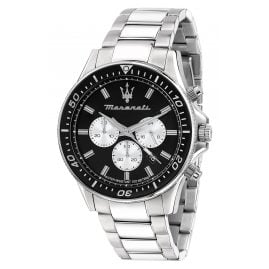 Maserati R8873640004 Men's Watch Chronograph Sfida silver/black