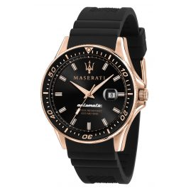 Maserati R8821140001 Automatic Watch for Men Sfida black/rose gold