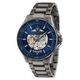 Maserati R8823140001 Men's Automatic Watch Sfida Grey/Blue