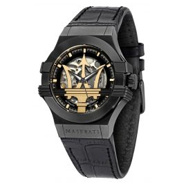 Maserati R8821108036 Men's Automatic Watch Potenza Skeleton Black