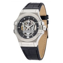 Maserati R8821108038 Men's Watch Automatic Potenza Skeleton silver/black