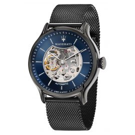 Maserati R8823118006 Automatic Watch for Men Epoca Skeleton grey/blue