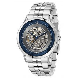 Maserati R8823133005 Men's Wristwatch Automatic Ricordo silver/blue