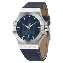 Maserati R8851108015 Men's Watch Potenza blue/silver