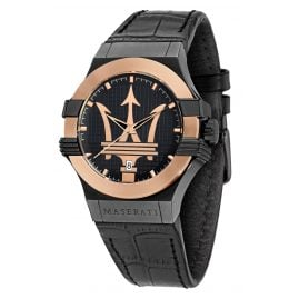 Maserati R8851108032 Men's Watch Potenza black/rose gold