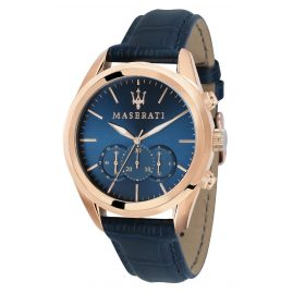 Maserati R8871612015 Men's Watch Chronograph Traguardo blue/rose gold