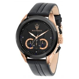Maserati R8871612025 Men's Watch Chronograph Traguardo black/rose gold