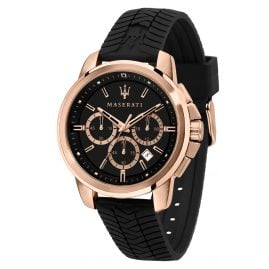 Maserati R8871621012 Men's Watch Chronograph Successo black/rose gold