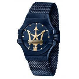 Maserati R8853108008 Men's Wristwatch blue/gold