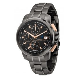 Maserati R8873645001 Solar Men's Watch Chronograph Successo Black