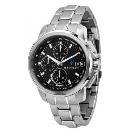 Maserati R8873645003 Solar Men's Watch Chronograph Successo Steel/Black